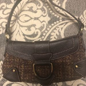 Valerie Stevens wool and leather purse